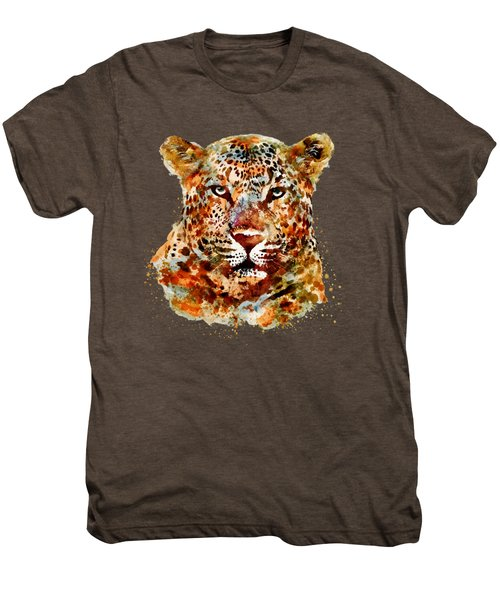 Leopard Head Watercolor Men's Premium T-Shirt