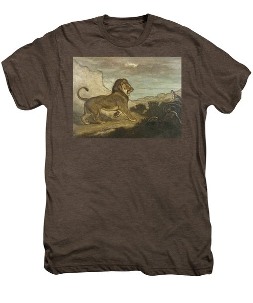 Lion And Python Men's Premium T-Shirt
