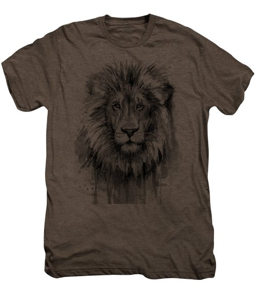 Lion Watercolor  Men's Premium T-Shirt