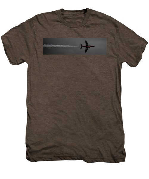 Lone Red Arrow Smoke Trail - Teesside Airshow 2016 Men's Premium T-Shirt