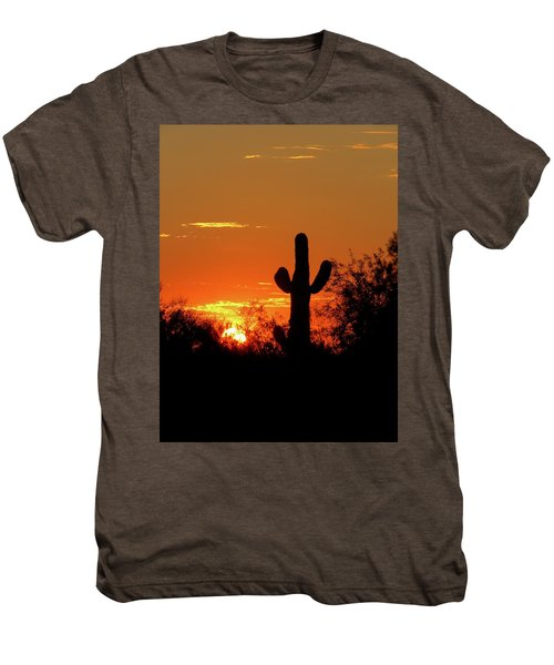 Lone Saguaro Sunrise Men's Premium T-Shirt