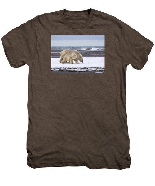 Looking Back In The Arctic Men's Premium T-Shirt