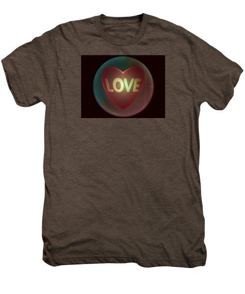 Love Heart Inside A Bakelite Round Package Men's Premium T-Shirt