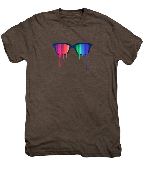 Love Wins Rainbow - Spectrum Pride Hipster Nerd Glasses Men's Premium T-Shirt