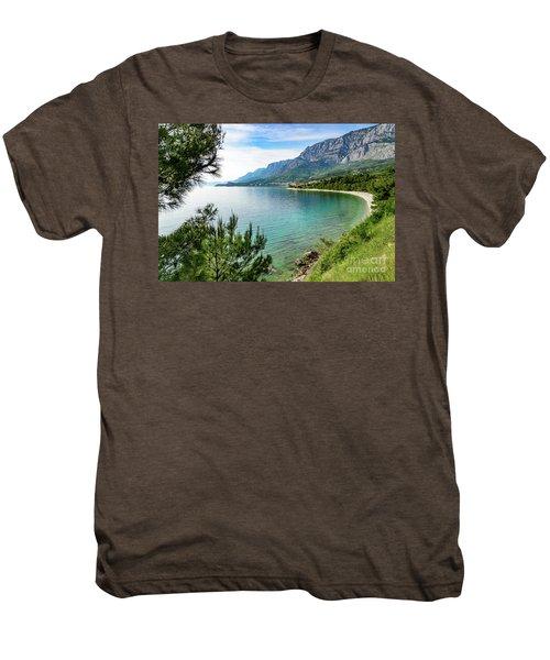 Makarska Riviera White Stone Beach, Dalmatian Coast, Croatia Men's Premium T-Shirt