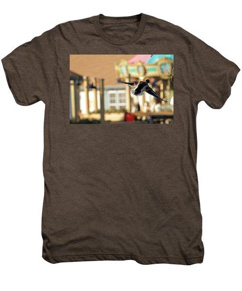 Mallard Duck And Carousel Men's Premium T-Shirt by Geraldine Scull