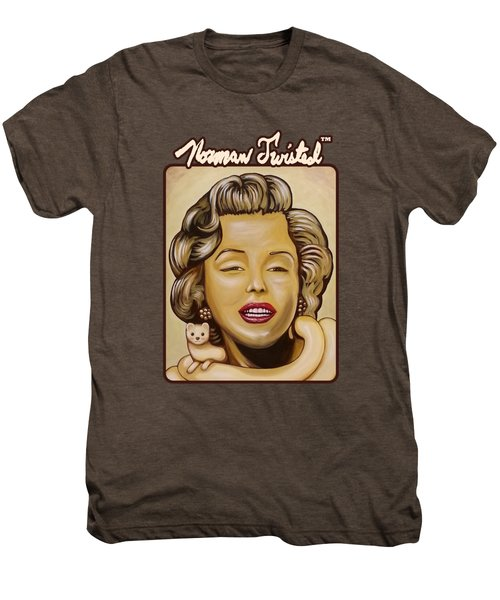 Marilyn In Gold Nt Men's Premium T-Shirt by Norman Twisted