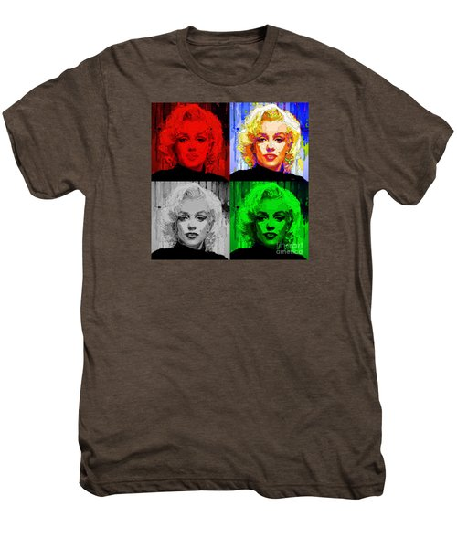 Marilyn Monroe - Quad. Pop Art Men's Premium T-Shirt