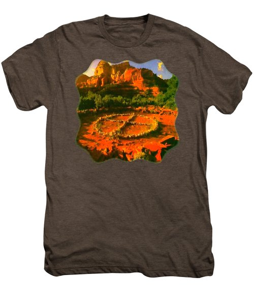 Medicine Wheel Men's Premium T-Shirt by Raven SiJohn