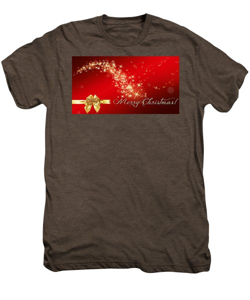 Merry Christmas Christmas Card Men's Premium T-Shirt by Bellesouth Studio