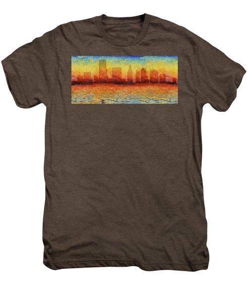 Miami Skyline 5 Men's Premium T-Shirt by Andrew Fare