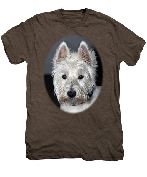Mischievous Westie Dog Men's Premium T-Shirt