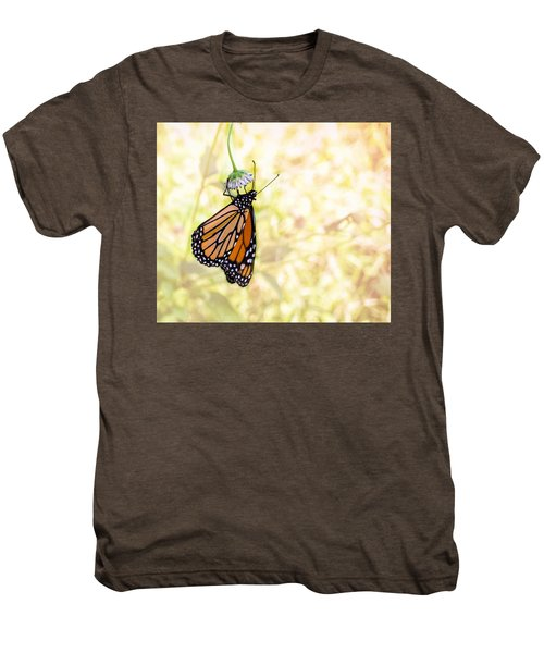 Monarch Butterfly Hanging On Wildflower Men's Premium T-Shirt