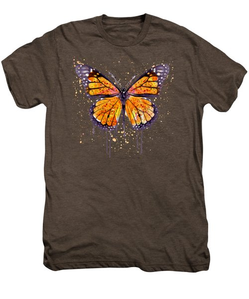 Monarch Butterfly Watercolor Men's Premium T-Shirt