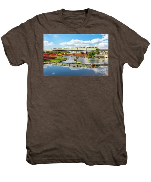 Monorail Cruise Over The Flower Garden. Men's Premium T-Shirt