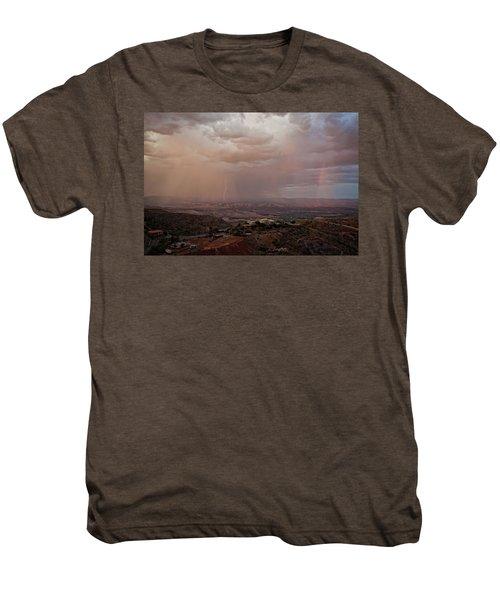 Monsoon Lightning And Rainbow Men's Premium T-Shirt