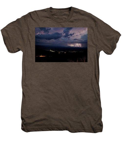 Monsoon Lightning Over Sedona From Jerome Az Men's Premium T-Shirt