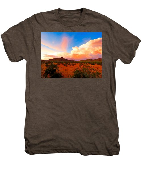 Monsoon Storm Sunset Men's Premium T-Shirt