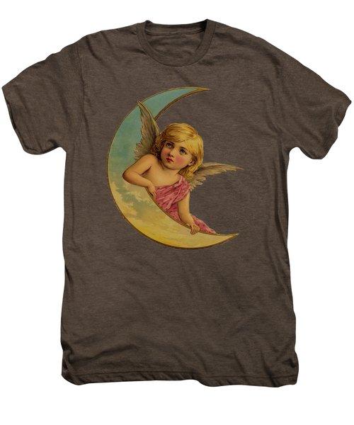 Moon Angel T Shirt Design Men's Premium T-Shirt by Bellesouth Studio