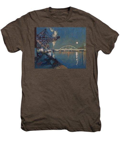 Moon Over The Railway Bridge Maastricht Men's Premium T-Shirt