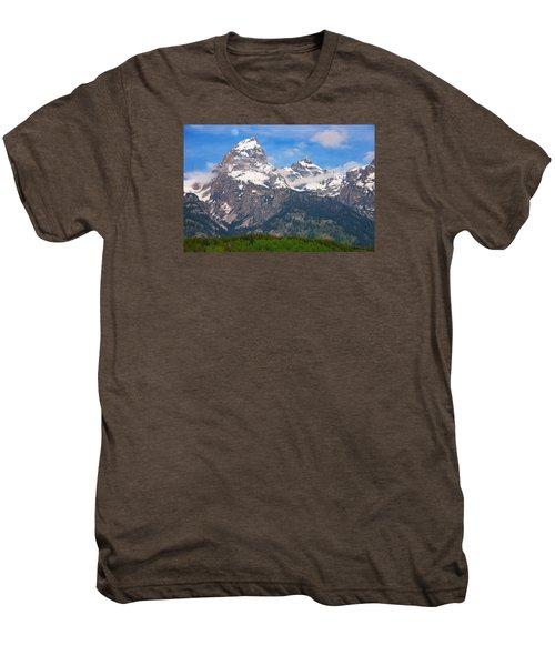 Moon Over The Tetons Men's Premium T-Shirt