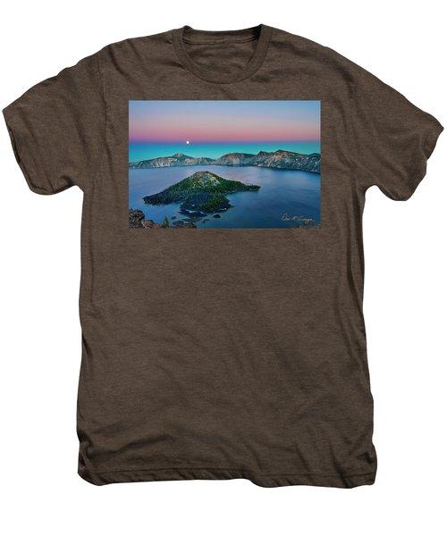 Moon Over Wizard Island Men's Premium T-Shirt