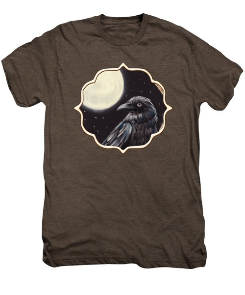 Moonlight Raven Men's Premium T-Shirt