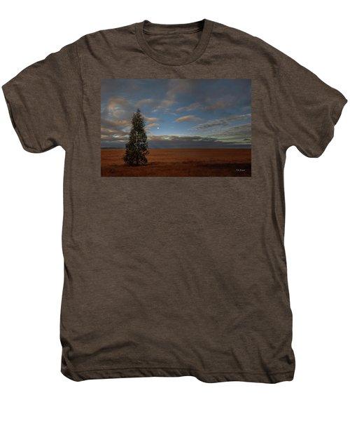 Moonset  In A Large Morning Sky Men's Premium T-Shirt