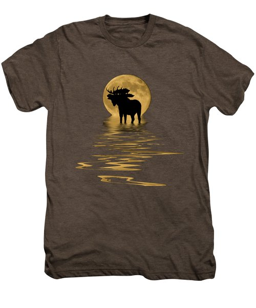 Moose In The Moonlight Men's Premium T-Shirt