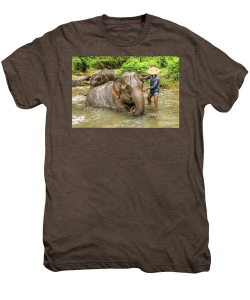 Morning Ablutions 4 Men's Premium T-Shirt by Werner Padarin
