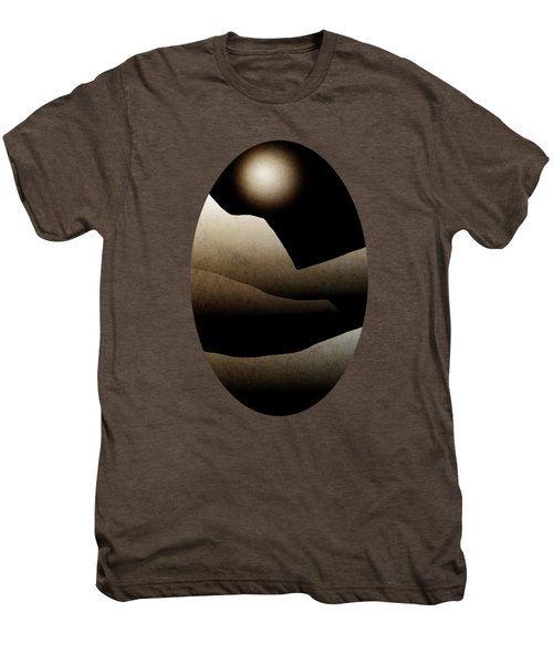 Mountain Moonlight Landscape Art Men's Premium T-Shirt by Christina Rollo