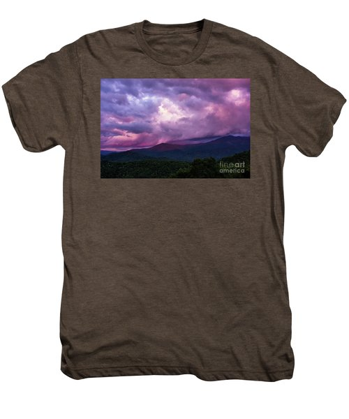 Mountain Sunset In The East Men's Premium T-Shirt