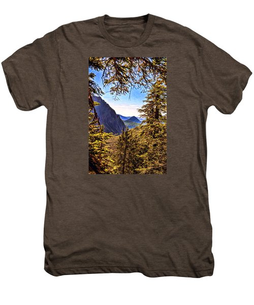 Men's Premium T-Shirt featuring the photograph Mountain Views by Anthony Baatz