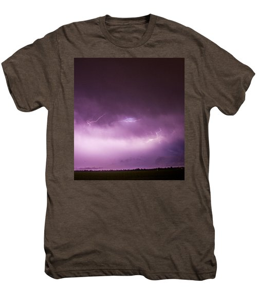 Nebraska Night Thunderstorms 013 Men's Premium T-Shirt