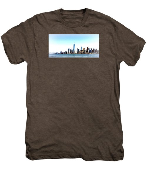 New York City Skyline Men's Premium T-Shirt