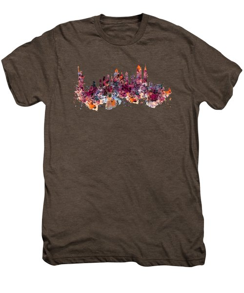 New York Skyline Watercolor Men's Premium T-Shirt