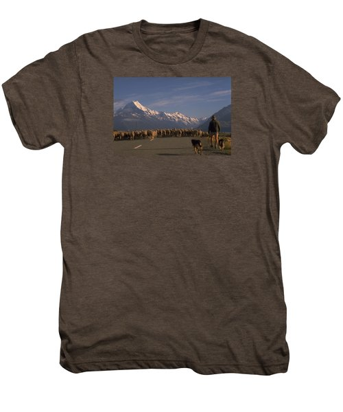 New Zealand Mt Cook Men's Premium T-Shirt by Travel Pics