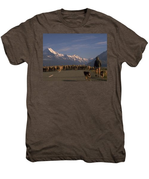 New Zealand Mt Cook Men's Premium T-Shirt
