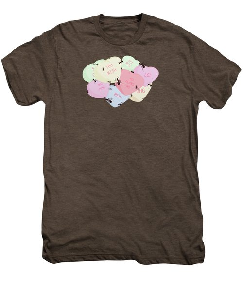No Love Here Men's Premium T-Shirt by Priscilla Wolfe