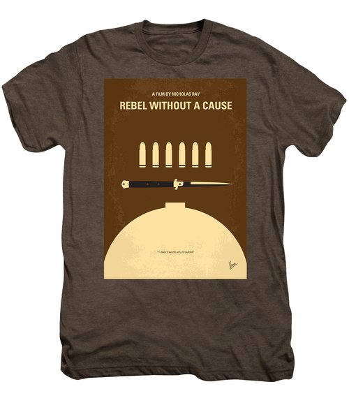No318 My Rebel Without A Cause Minimal Movie Poster Men's Premium T-Shirt by Chungkong Art