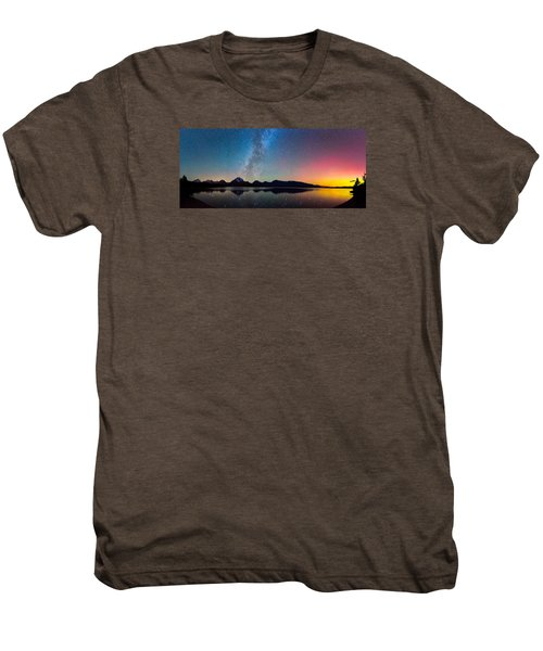 Northern Lights Over Jackson Lake Men's Premium T-Shirt
