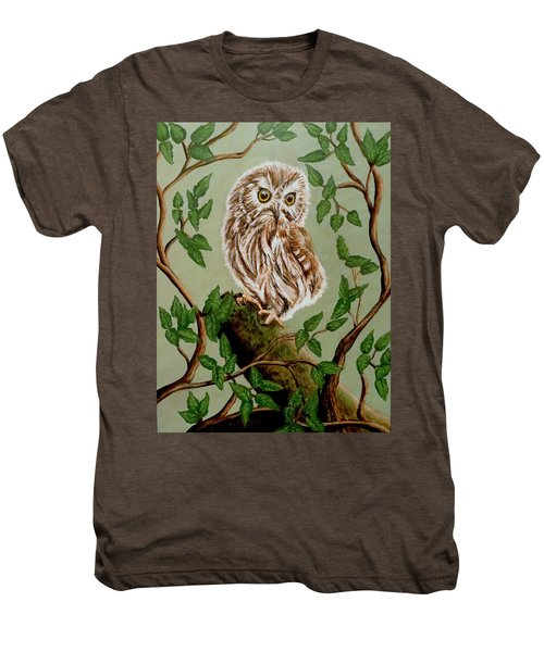 Northern Saw-whet Owl Men's Premium T-Shirt