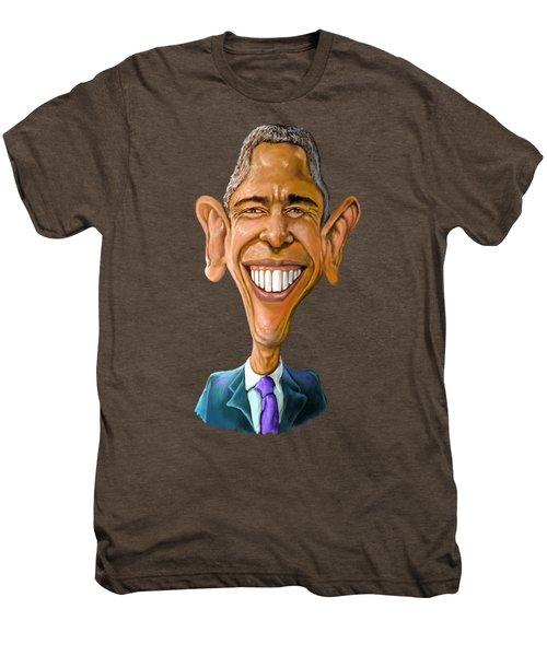Obama Caricature Men's Premium T-Shirt