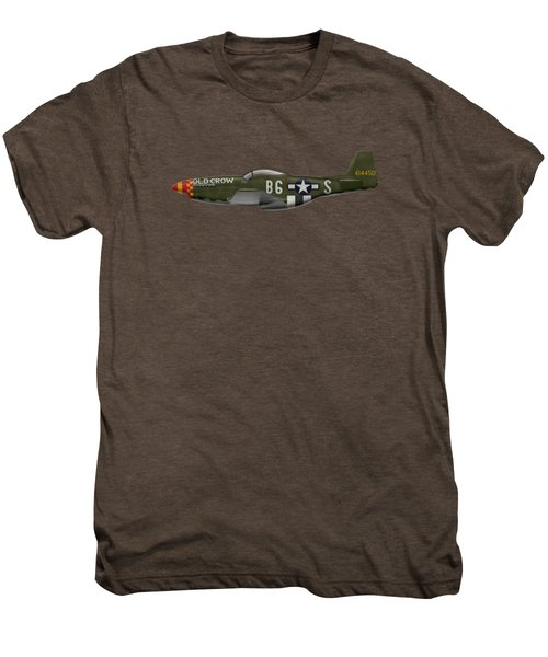 Old Crow - P-51 D Mustang Men's Premium T-Shirt by Ed Jackson