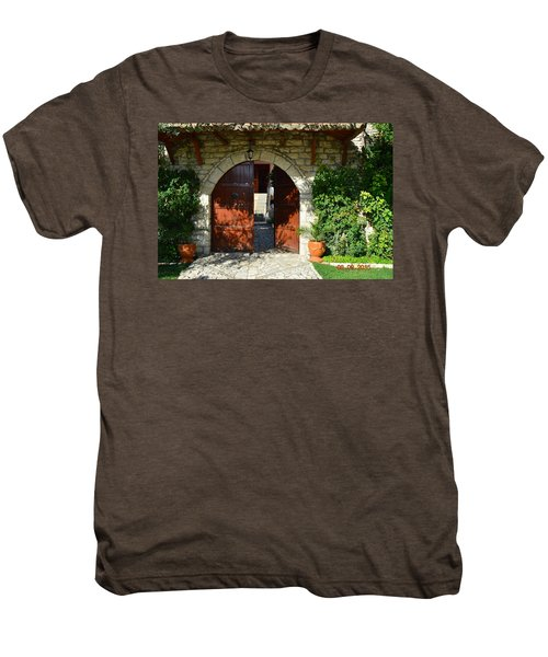 Old House Door Men's Premium T-Shirt by Nuri Osmani