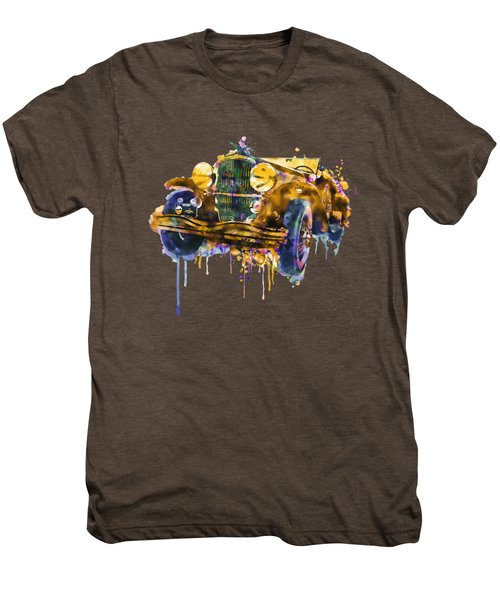 Oldtimer Automobile In Watercolor Men's Premium T-Shirt