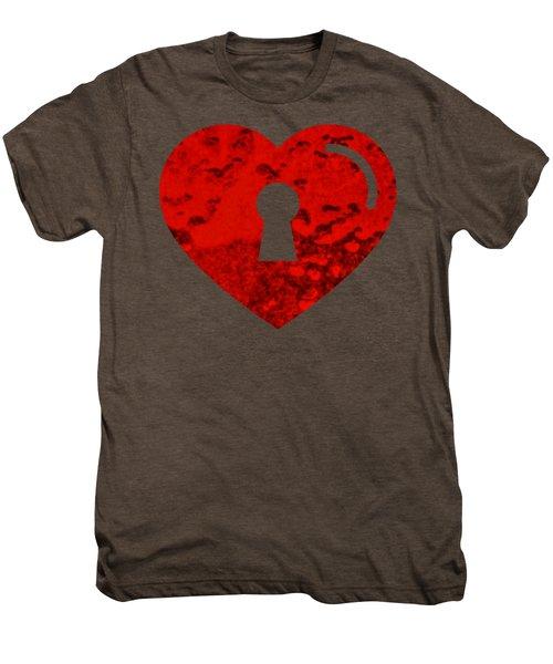 One Heart One Key Men's Premium T-Shirt