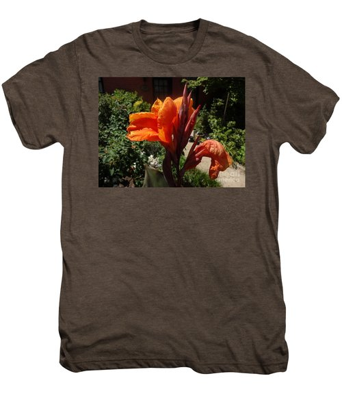 Men's Premium T-Shirt featuring the photograph Orange Canna Lily by Rod Ismay