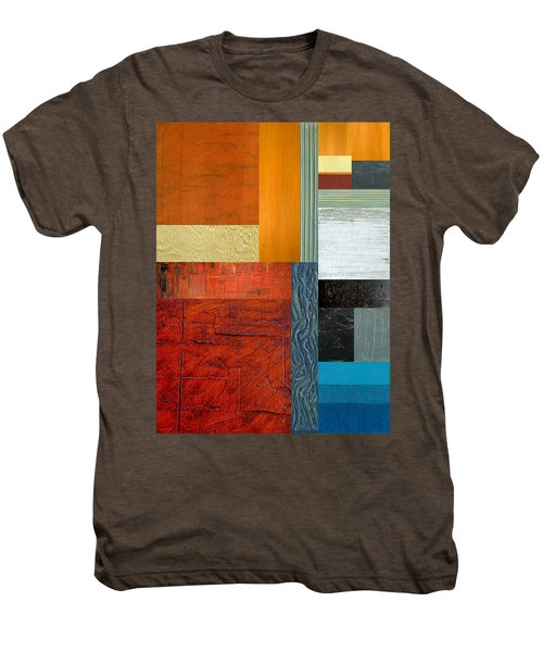 Men's Premium T-Shirt featuring the painting Orange Study With Compliments 1.0 by Michelle Calkins
