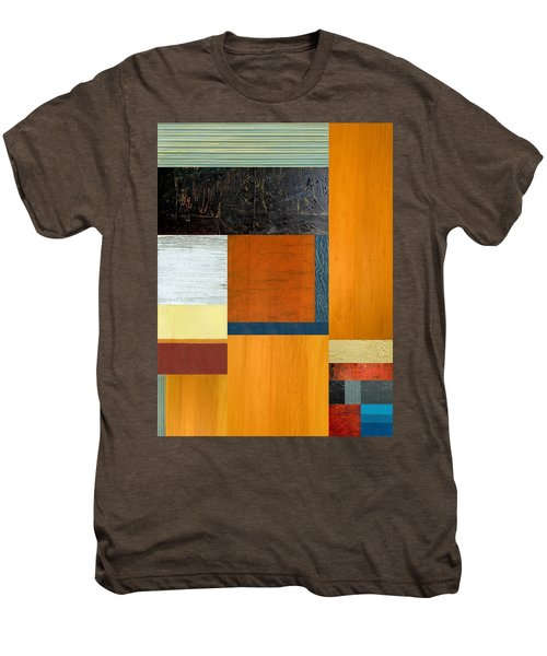 Men's Premium T-Shirt featuring the painting Orange Study With Compliments 2.0 by Michelle Calkins